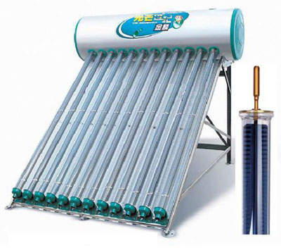 Kit solare sotto vuoto 90litri shcmv tetto piano for Tubi del serbatoio dell acqua calda
